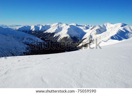 West Tatras in winter - stock photo
