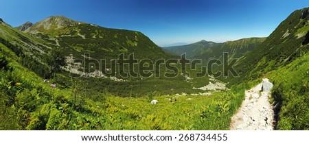 West Tatras - panorama - stock photo