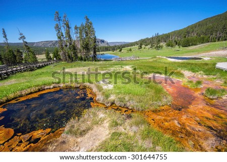 West Thumb in Yellowstone National Park , USA - stock photo