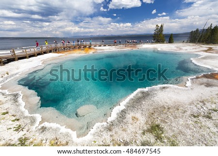 West Thumb, Yellowstone National Park, Wyoming USA