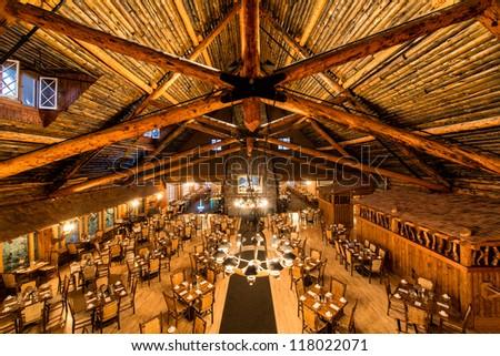 Old Faithful Inn Dining Room Extraordinary Old Faithful Inn Stock Images Royaltyfree Images & Vectors . Inspiration