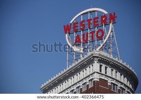 Western Auto Sign - stock photo