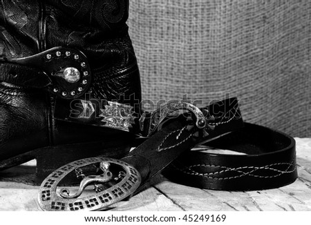 Western cowboy still life on the desk