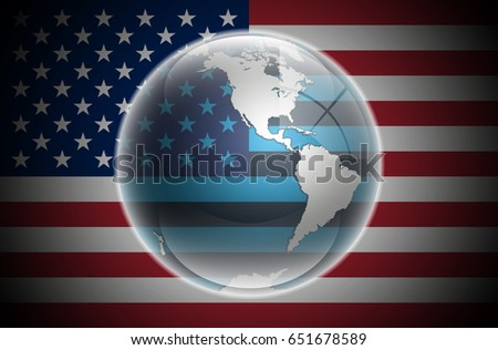 Western Hemisphere Planet Earth Background Usa Stock Vector - Usa hemisphere