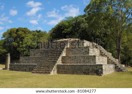 Western Honduras, Archeological Park in Copan, 2011 - One of the Temples