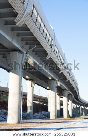 Western Rapid Diameter is a toll motorway in Saint Petersburg, Russia - stock photo