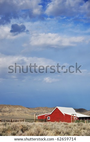 Western Red Barn and Sky