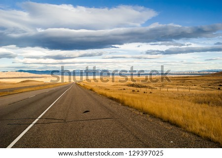 Western Road - stock photo