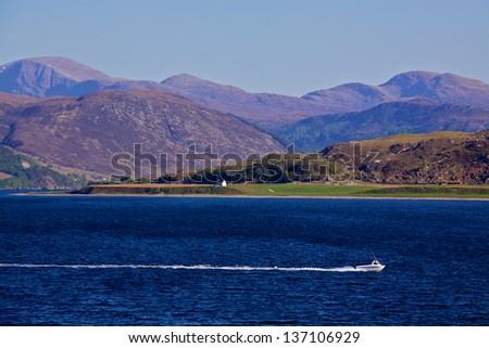 Western Scottish coast near town of Ullapool - stock photo