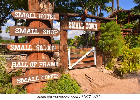 Western style cowboy sign - stock photo