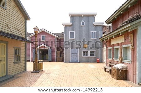 western town street - stock photo