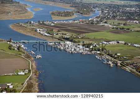 Westham Island, Fraser River, Richmond and Fraser Valley - stock photo