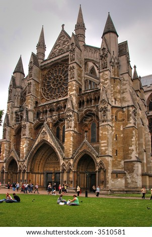 Westminster Abbey in London - stock photo