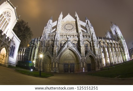 Westminster Abbey in London, United Kingdom - stock photo