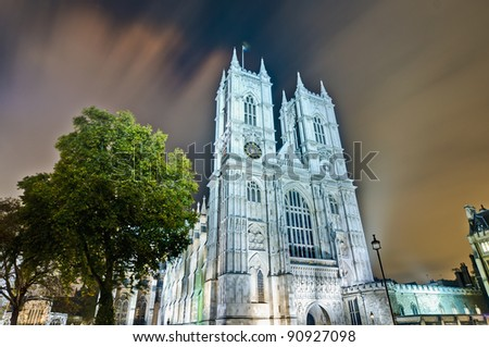 Westminster Abbey located at London, England - stock photo
