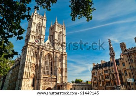 Westminster Abbey, London, UK. - stock photo