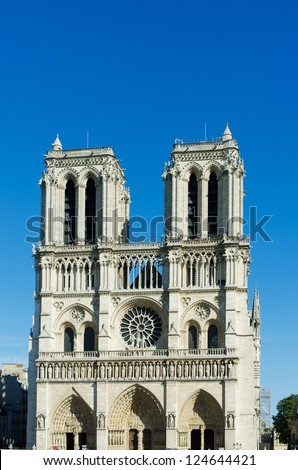 Westminster Abbey on bright summer day - stock photo