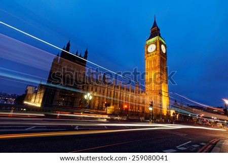 Westminster and Big Ben  - stock photo