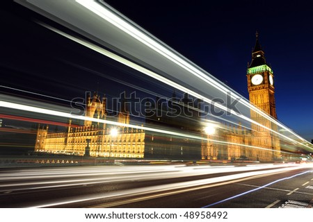 Westminster and Big Ben at night London England