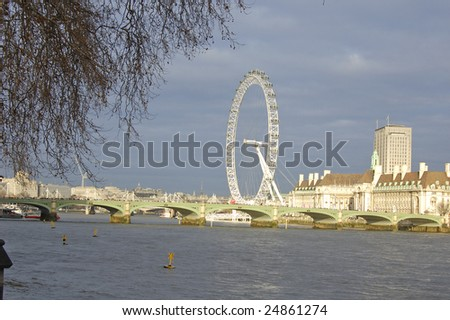 Westminster Bridge and the South Bank, London, England