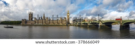 Westminster bridge panoramic