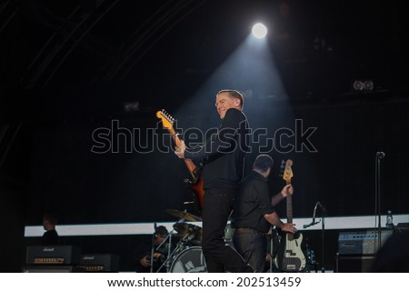 Westport,Ireland-June 29th ,Bryan Adams performs live at the Westport Festival,Westport House,County Mayo on June 29th 2014 in Westport,Ireland. - stock photo