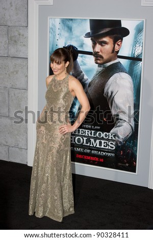 "WESTWOOD, CA - DECEMBER 6: Actress Noomi Rapace arrives at the premiere of ""Sherlock Holmes 2: A Game of Shadows"" at Regency Village Theater on December 6, 2011 in Westwood, California"