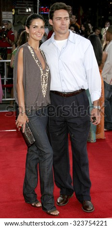 WESTWOOD, CALIFORNIA. July 20, 2006. Angie Harmon and Jason Sehorn at the World premiere of 'Miami Vice' held at the Mann's Village Theater in Westwood, California United States.