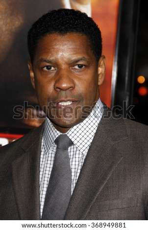 "WESTWOOD, CALIFORNIA - October 26, 2010. Denzel Washington at the Los Angeles premiere of ""Unstoppable"" held at the Westwood Village Theater, Los Angeles. - stock photo"