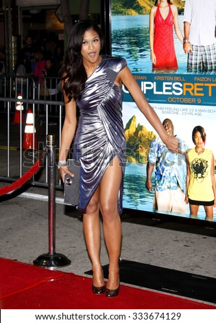 "WESTWOOD, CALIFORNIA - October 5, 2009. Kali Hawk at the Los Angeles premiere of ""Couples Retreat"" held at the Mann Village Theater, Westwood, Los Angeles."