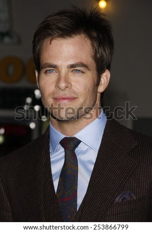 "WESTWOOD, CALIFORNIA - Tuesday October 26, 2010. Chris Pine at the Los Angeles premiere of ""Unstoppable"" held at the Westwood Village Theater, Los Angeles."