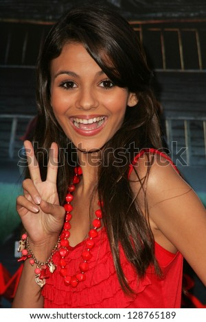 "WESTWOOD - JULY 17: Victoria Justice at the premiere of ""Monster House"" at Mann Village Theater July 17, 2006 in Westwood, CA."