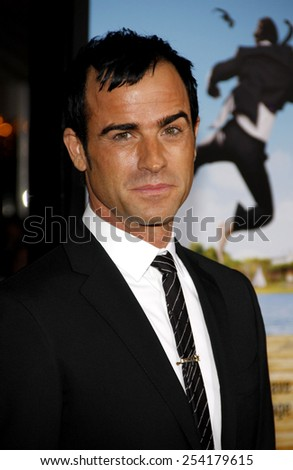 """WESTWOOD, USA - FEBRUARY 16: Justin Theroux  at the Los Angeles Premiere of """"Wanderlust"""" held at the Mann Village Theatre in Los Angeles, USA on February 16, 2012. - stock photo"""