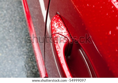 Wet car - stock photo