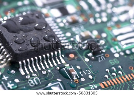 Wet computer printed circuit board