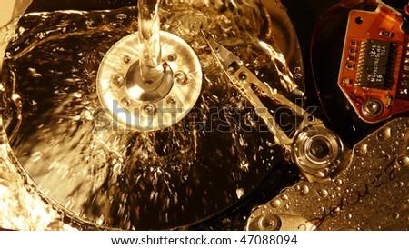 Wet disk - stock photo