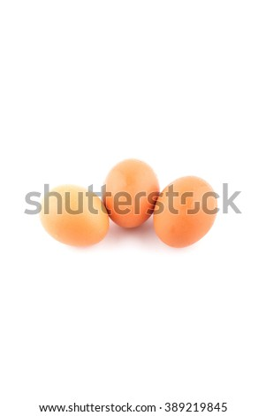 Wet eggs on a white background.