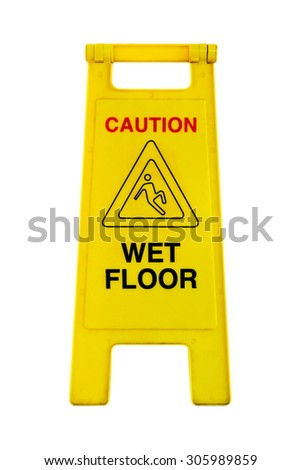 Slippery surface hazard warning labels stock images for Floor labels