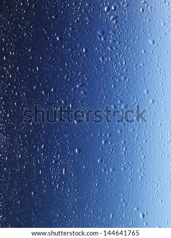Wet glass surface