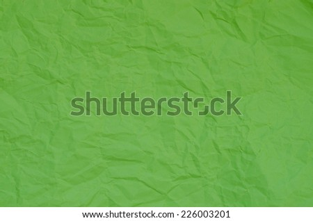 wet green  creased paper background texture - stock photo