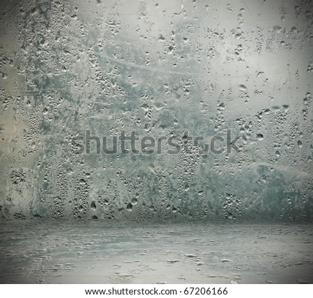 wet interior - stock photo