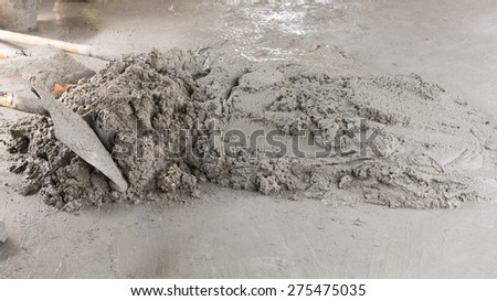Wet mortar mixed for used - stock photo