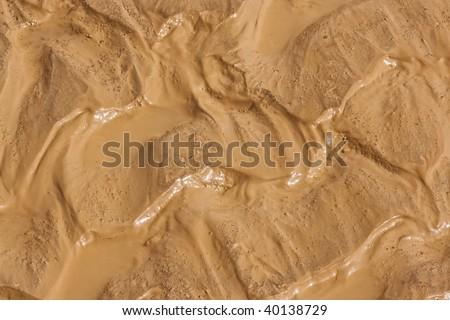 wet mud closeup - stock photo