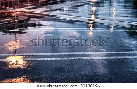 Wet Pavement
