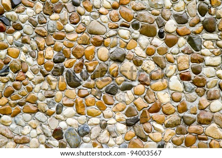 Wet round stone rock texture - stock photo