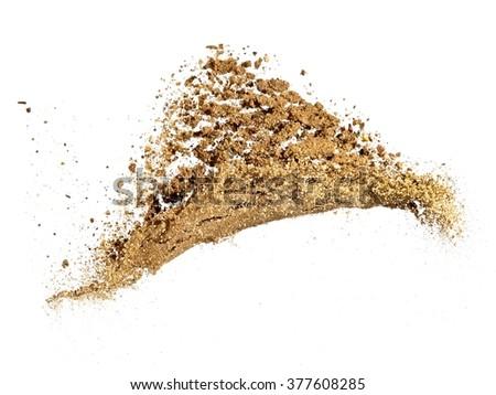 Wet sand explosion - stock photo