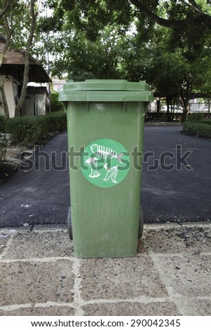 Wet trash at side Street in the alley - stock photo