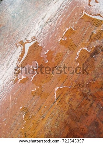 Wet Wood Floor Stock Photo Royalty Free 722545357 Shutterstock