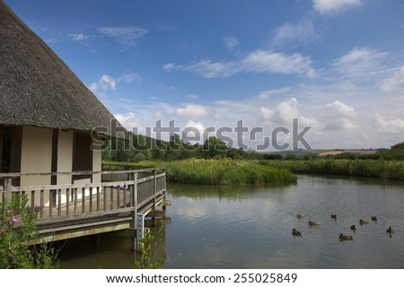 Wetlands Nature Reserve, Arundel, West Sussex - stock photo