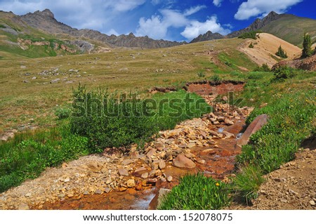 Wetterhorn Peak, Rocky Mountains, Colorado - stock photo